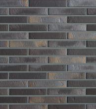 Клинкерный облицовочный кирпич Roben Chelsea basalt-bunt LDF, 290х90х52